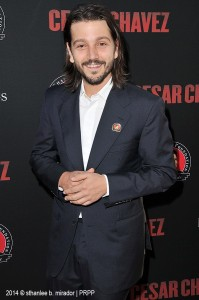 "Director Diego Luna poses for the camera during the premiere of his film  ""Cesar Chavez."" ©Sthanlee B. Mirador/FRFW/PRPP."