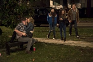 (Standing left to righ) Hailee Steinfeld, Haley Lu Richards, and Blake Jenner in THE EDGE OF SEVENTEEN. ©STX Productions. CR: Murray Close.